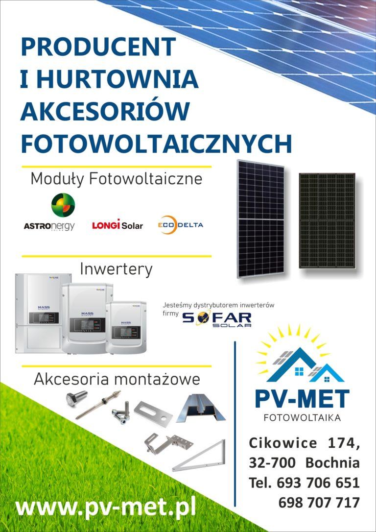 Producent i hurtownia akcesoriów fotowoltaicznych PV-MET