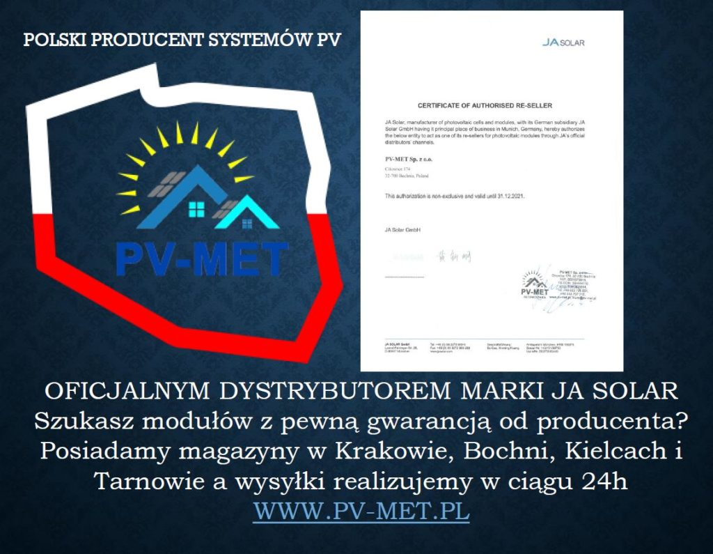 PV-MET fotowoltaika JA SOLAR