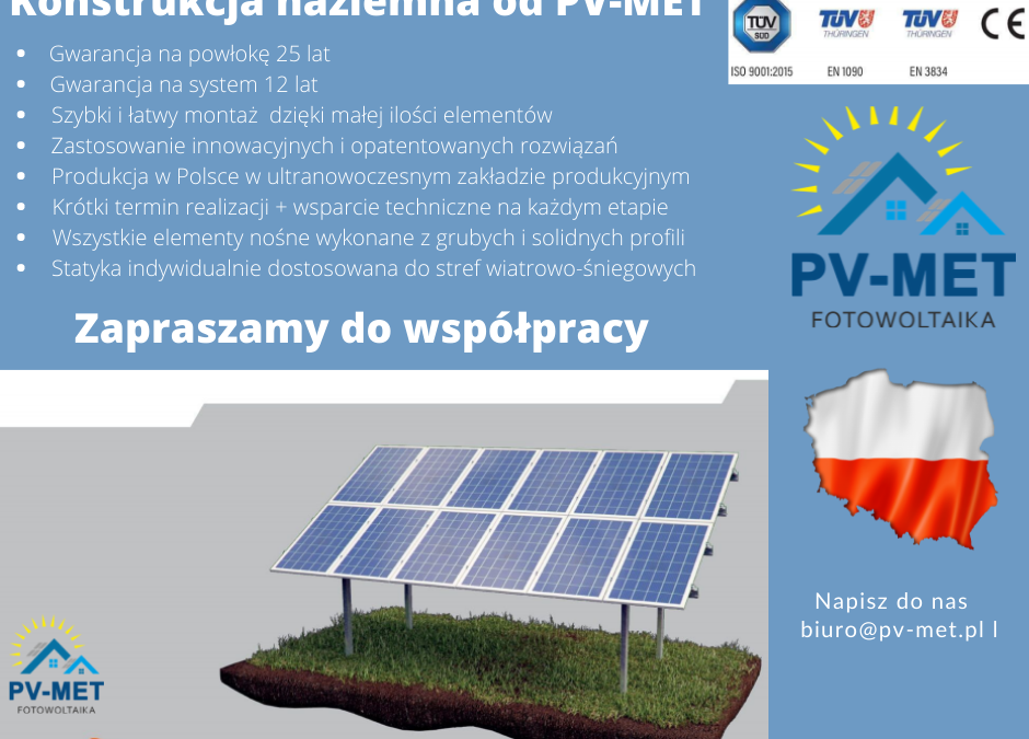 Konstrukcja naziemna od PV-MET