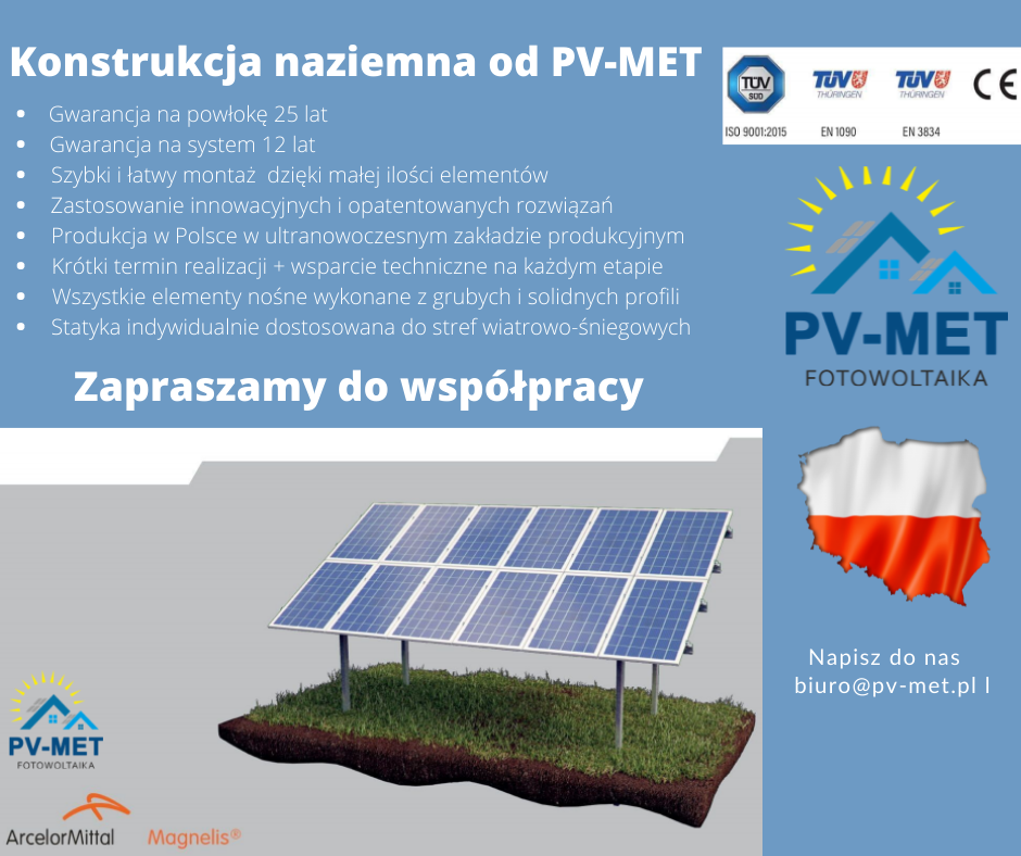 Konstrukcje naziemne fotowoltaiki PV-MET