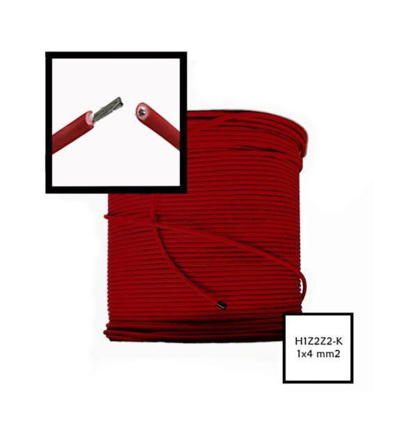 Przewód Solarny H1Z2Z2-K Czerwony 4mm2 hurtownia fotowoltaiczna krakow pv-met fotowoltaika akcesoria