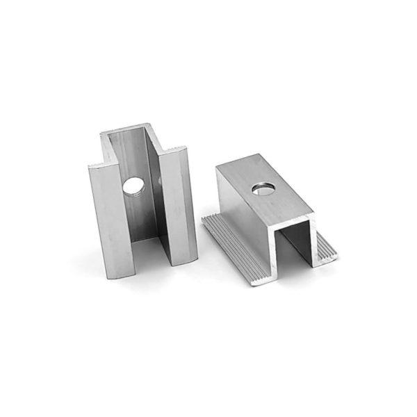 klema uniwersalna srebrna hurtownia fotowoltaiczna pv-met krakow fotowoltaika akcesoria